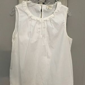 Kate Spade White top with Ruffle Detail